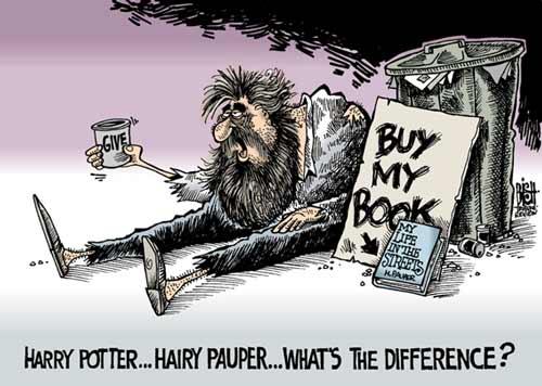 Pancarte : « achetez mon livre --> ma vie dans la rue »